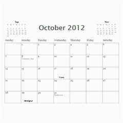 Dads Calender By Lise   Wall Calendar 11  X 8 5  (12 Months)   Wc6xf6iclwlp   Www Artscow Com Oct 2012