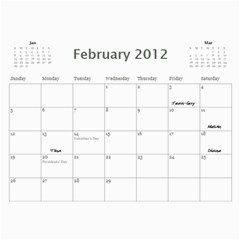 Dads Calender By Lise   Wall Calendar 11  X 8 5  (12 Months)   Wc6xf6iclwlp   Www Artscow Com Feb 2012