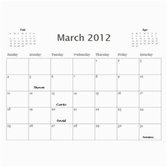 Dads Calender By Lise   Wall Calendar 11  X 8 5  (12 Months)   Wc6xf6iclwlp   Www Artscow Com Mar 2012
