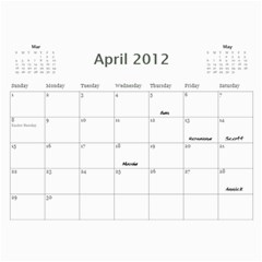 Dads Calender By Lise   Wall Calendar 11  X 8 5  (12 Months)   Wc6xf6iclwlp   Www Artscow Com Apr 2012