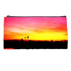 Pink Sunset Pencil Case by tammystotesandtreasures