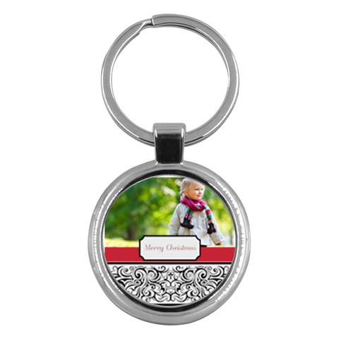 Christmas By May   Key Chain (round)   C1q60srzuzyf   Www Artscow Com Front