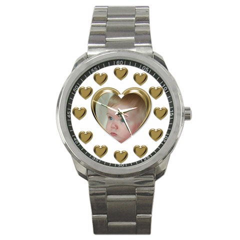 Heart Sports Watch By Deborah   Sport Metal Watch   S3yks9i5nwyq   Www Artscow Com Front