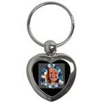 beauty flower  - Key Chain (Heart)
