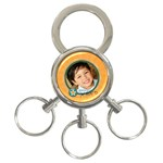 3-ring keychain: xoxo - 3-Ring Key Chain