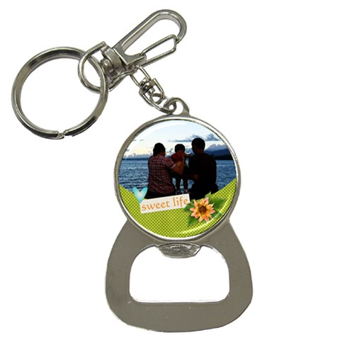 Bottle Opener Keychain: Sweet Life By Jennyl   Bottle Opener Key Chain   Zv8a7dlkc48p   Www Artscow Com Front