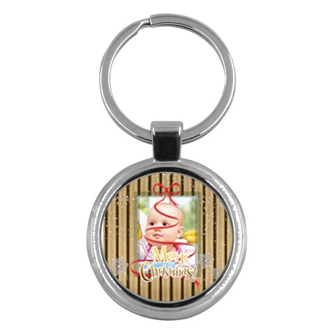 Christmas By Joely   Key Chain (round)   39561uqdrq43   Www Artscow Com Front