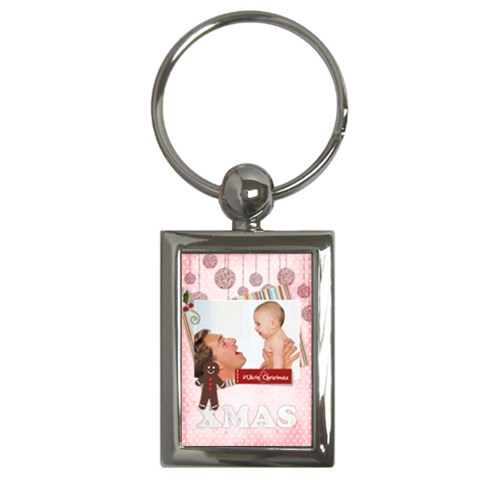Christmas By Joely   Key Chain (rectangle)   Cbef5u3f7az9   Www Artscow Com Front