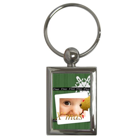 Christmas By Joely   Key Chain (rectangle)   Vdx6pm5660zq   Www Artscow Com Front