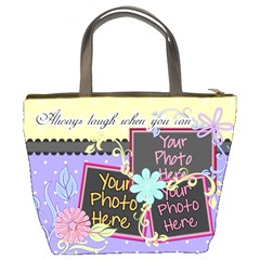 Always Laugh When You Can 3 By Digitalkeepsakes   Bucket Bag   Qgfmx6q5i2t8   Www Artscow Com Back