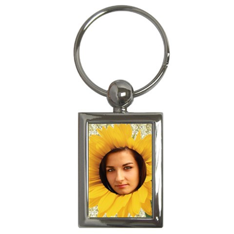 Sunflower Key Chain By Deborah   Key Chain (rectangle)   Nb54zersywvb   Www Artscow Com Front