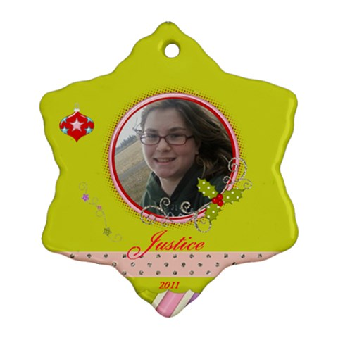 Justice Ornament By M   Ornament (snowflake)   Le9a858jssq4   Www Artscow Com Front