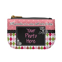 Grandma Is Mom With Extra Frosting By Digitalkeepsakes   Mini Coin Purse   M7hj4a5vbqa5   Www Artscow Com Front