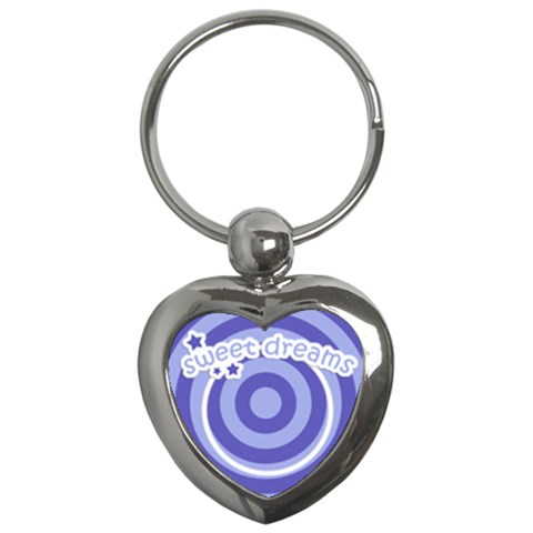 Heart Key Chain Sweet Dreams 05 By Carol   Key Chain (heart)   Uajuqtl84a4p   Www Artscow Com Front