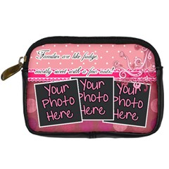 Families Are Like Fudge   Pink By Digitalkeepsakes   Digital Camera Leather Case   T7fm19oeawfb   Www Artscow Com Front