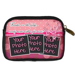 Families Are Like Fudge   Pink By Digitalkeepsakes   Digital Camera Leather Case   T7fm19oeawfb   Www Artscow Com Back