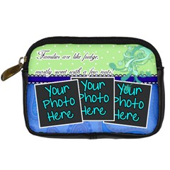 Families Are Like Fudge   Blue By Digitalkeepsakes   Digital Camera Leather Case   4tnuh9nwvh76   Www Artscow Com Front