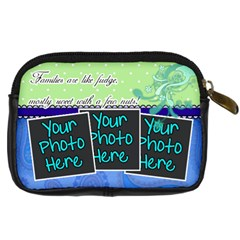 Families Are Like Fudge   Blue By Digitalkeepsakes   Digital Camera Leather Case   4tnuh9nwvh76   Www Artscow Com Back
