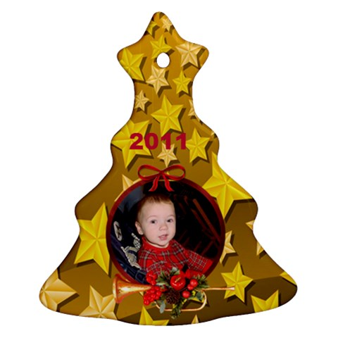 Gold Christmas Tree Ornament 1 By Kim Blair   Ornament (christmas Tree)    O6opp50x3jj1   Www Artscow Com Front