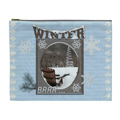 Winter Wonderland Xl Cosmetic Bag By Lil    Cosmetic Bag (xl)   C4bamys5w7dp   Www Artscow Com Front
