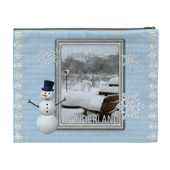 Winter Wonderland Xl Cosmetic Bag By Lil    Cosmetic Bag (xl)   C4bamys5w7dp   Www Artscow Com Back