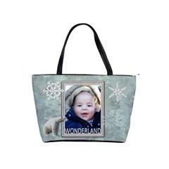 Wonderland Classic Shoulder Handbag By Lil    Classic Shoulder Handbag   Ol4ulgeto8j8   Www Artscow Com Front
