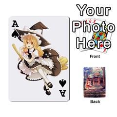 Ace Touhou Playing Card Deck Reimu Back By K Kaze   Playing Cards 54 Designs   6b2xwy4bizyw   Www Artscow Com Front - SpadeA