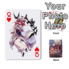 Queen Touhou Playing Card Deck Reimu Back By K Kaze   Playing Cards 54 Designs   6b2xwy4bizyw   Www Artscow Com Front - HeartQ