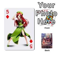 Touhou Playing Card Deck Reimu Back By K Kaze   Playing Cards 54 Designs   6b2xwy4bizyw   Www Artscow Com Front - Diamond5