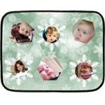 Ice Green Snowflake Mini Blanket - Fleece Blanket (Mini)