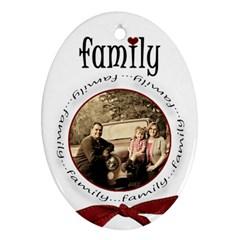 Family Christmas 2 Side Oval By Amanda Bunn   Oval Ornament (two Sides)   A8oc5iar1vsh   Www Artscow Com Front