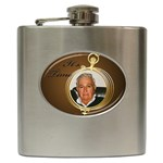 Its Time Hip Flask - Hip Flask (6 oz)