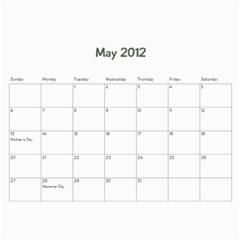 Family Calendar By Jennifer   Wall Calendar 11  X 8 5  (12 Months)   Oedaduni61lg   Www Artscow Com May 2012