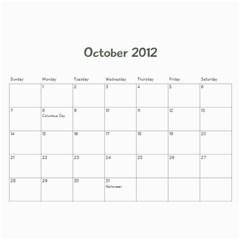 Family Calendar By Jennifer   Wall Calendar 11  X 8 5  (12 Months)   Oedaduni61lg   Www Artscow Com Oct 2012