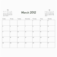 Family Calendar By Jennifer   Wall Calendar 11  X 8 5  (12 Months)   Oedaduni61lg   Www Artscow Com Mar 2012