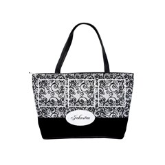 Black And White Shoulder Handbag By Deborah   Classic Shoulder Handbag   5srf9lu8slpo   Www Artscow Com Back