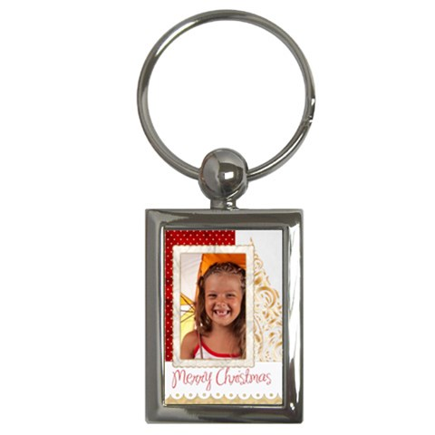 Christmas By Joely   Key Chain (rectangle)   Dwuybx54atyh   Www Artscow Com Front