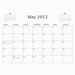 Dad By Mike Anderson   Wall Calendar 11  X 8 5  (12 Months)   Sq4ad8js53ej   Www Artscow Com May 2012