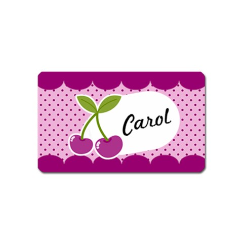 Cherry Magnet 01 By Carol   Magnet (name Card)   Sdi4vic157p2   Www Artscow Com Front