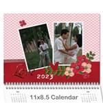 Wall Calendar 11 x 8.5 : LOVE - Wall Calendar 11  x 8.5  (12-Months)