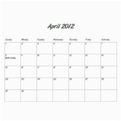 Koerner Calendar 2011 By Alecia    Wall Calendar 11  X 8 5  (12 Months)   Xecmv2nnnb13   Www Artscow Com Apr 2012