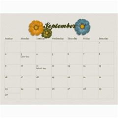 Calendar Gift By Mikki   Wall Calendar 11  X 8 5  (12 Months)   Mqz4p0hzm3gm   Www Artscow Com Sep 2012