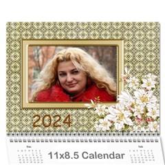 Floral Elegance 2018 (any Year) Calendar By Deborah   Wall Calendar 11  X 8 5  (12 Months)   8as5y2c2mkxn   Www Artscow Com Cover