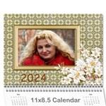 floral Elegance 2018 (any year) Calendar - Wall Calendar 11  x 8.5  (12-Months)