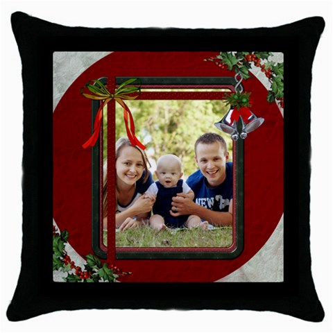 Christmas Framed Throw Pillow Case By Lil    Throw Pillow Case (black)   Upbtgien511v   Www Artscow Com Front