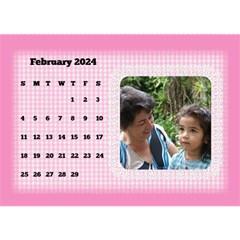 Happy Pink 2017 Desk Calendar By Deborah   Desktop Calendar 8 5  X 6    Kg4nta7adt1z   Www Artscow Com Feb 2017