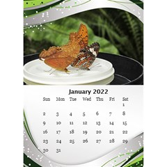 Green Wave Desktop Calendar 2018 (6x8 5) By Deborah   Desktop Calendar 6  X 8 5    Ln5plncan51e   Www Artscow Com Jan 2018