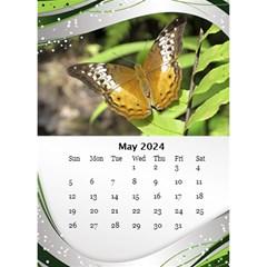 Green Wave Desktop Calendar 2018 (6x8 5) By Deborah   Desktop Calendar 6  X 8 5    Ln5plncan51e   Www Artscow Com May 2018