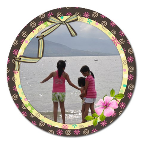 Best Of Friends 5  Magnet By Angel   Magnet 5  (round)   Mix68q4t9ozt   Www Artscow Com Front