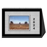 Framed in Silver 2018 Desk Calendar (8.5x6) - Desktop Calendar 8.5  x 6